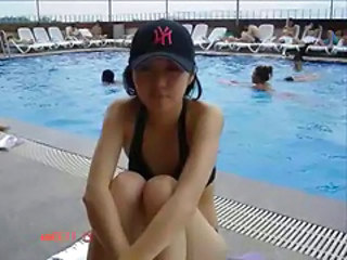 Asian Korean Pool Skinny Teen