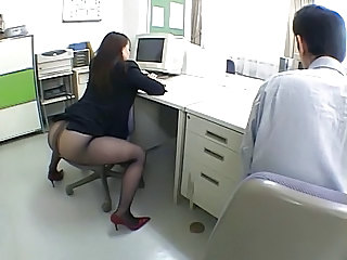 Asian Ass Japanese MILF Office Pantyhose Secretary