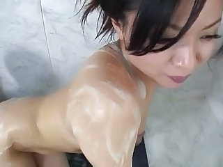 Amazing Asian Bathroom Japanese MILF