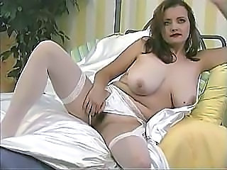 Bus Chubby MILF Natural SaggyTits Solo Stockings