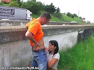 Amateur Blowjob Clothed Outdoor Public Teen