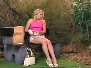 Amazing Blonde Legs Outdoor Teen Young