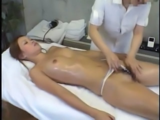 Asian Japanese Massage MILF Oiled Small Tits