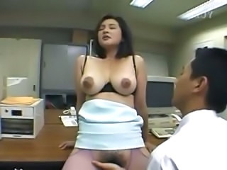 Asian Babe Hairy Japanese Natural Office Pantyhose