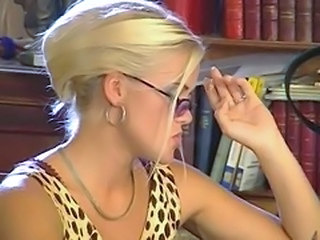 Blonde Glasses MILF Smoking