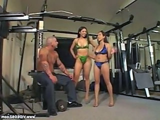 Amazing Asian Big Tits Bikini Interracial MILF Sport Threesome