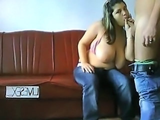 Amateur BBW Big Tits Blowjob Jeans Natural Teen
