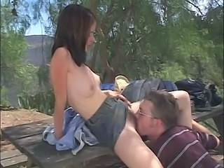 Licking Outdoor Skinny Teen