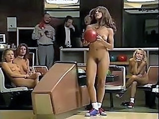 Jacqueline Lovell with the addition of other busty babes go bowling in the nude