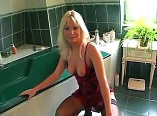 Anal Bathroom Blonde MILF