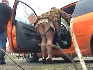 Car Stockings Upskirt