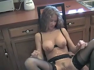 Blonde Cumshot MILF Stockings