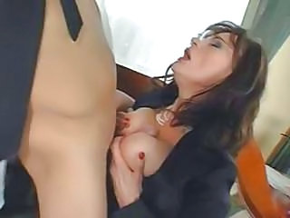 Big Tits Bus MILF Natural Tits job