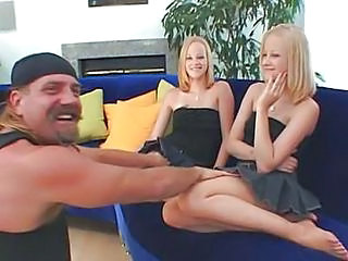 Blonde Threesome Twins