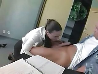 Blowjob CFNM Glasses Office Secretary