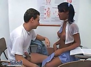 Ebony School Teen