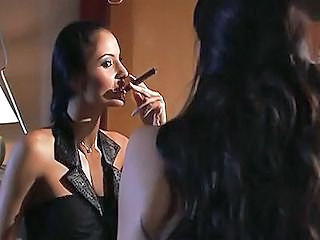 Brunette Pornstar Smoking Teen