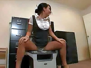 Asian Funny Office Secretary