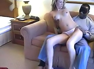 Blonde Cute Interracial Panty Skinny Teen