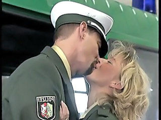 Blonde Kissing MILF Uniform