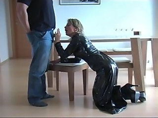 Amateur German Handjob Latex Small cock