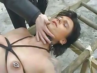 Fetish German Nipples Piercing Slave