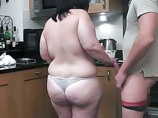 Ass BBW Kitchen Wife