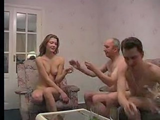 Drunk Homemade Old and Young Threesome