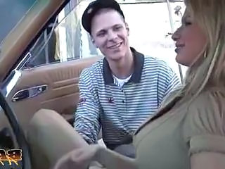 Blonde Car MILF Pornstar