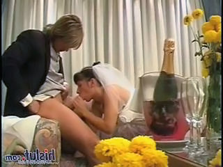 Blowjob Bride Brunette Drunk