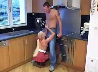 Big cock Blowjob French Kitchen Teen