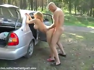 Amateur Car Doggystyle Hardcore Outdoor Teen