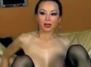 Asian MILF Skinny Stockings