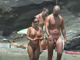 Beach MILF Nudist Outdoor Public Voyeur
