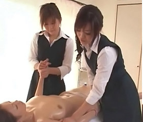 Asian Japanese Lesbian Massage Oiled Uniform