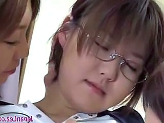 Asian Glasses Lesbian School Teen