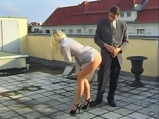 Blonde Outdoor Stockings