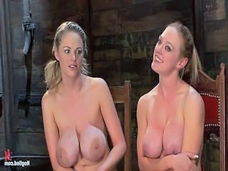 Blonde SaggyTits Silicone Tits Twins