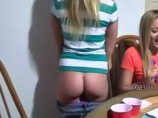 Ass Blonde Drunk Student Young