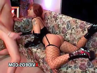 Latex Redhead Stockings Tattoo Teen