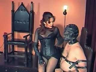 Slaves Balls and Flannel punished by Gothic Mistress