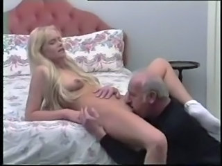 Blonde Daddy Daughter Licking Old and Young