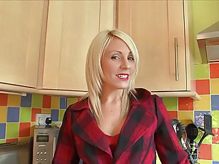 Blonde Kitchen MILF Solo