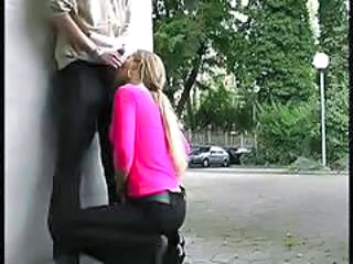 Blowjob Clothed German Outdoor Public