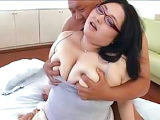 Asian BBW Big Tits Glasses MILF Natural