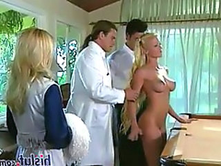 Babe Blonde Doctor Long hair