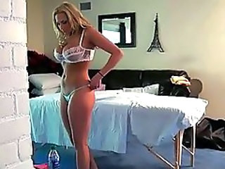 Amazing Big Tits Blonde Lingerie Massage MILF
