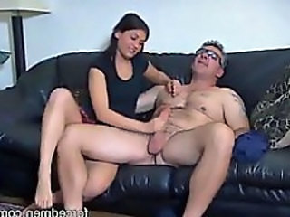 Amateur CFNM Daddy Handjob Old and Young
