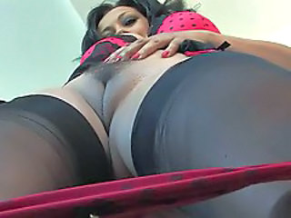 Close up MILF Pussy Stockings