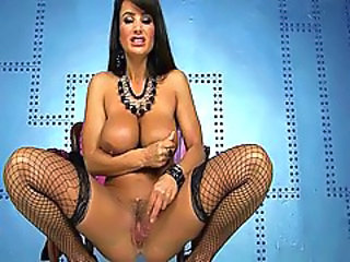 Amazing Big Tits Fishnet Masturbating MILF Natural Pornstar Pussy Stockings